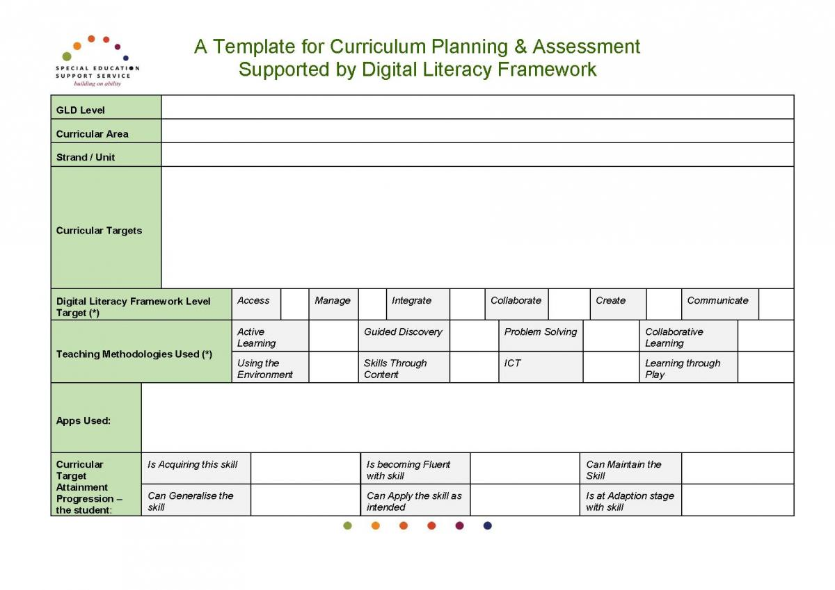 Digital literacy framework general learning disability special it contains elements of template curriculum targets attainment progression pronofoot35fo Choice Image