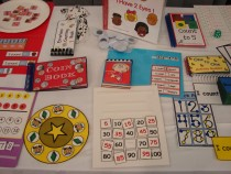 Collection of activity materials laying on a table